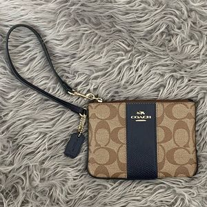 Coach Small Zip Wristlet in Signature Canvas